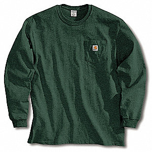 Long Sleeve T-Shirt, Hunter Green, 2XL