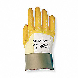 Nitrile Cut Resistant Gloves, ANSI/ISEA Cut Level 2, Kevlar® Lining, Yellow, M, PR 1
