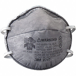 R95 Disposable Particulate Respirator, Gray, Universal, 20PK