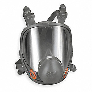 Bayonet Connection Low Maintenance Full Face Respirator, 4 Point Suspension, M