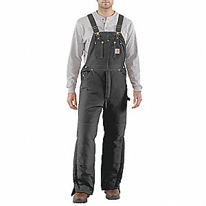 Bib Overalls,Black,Size 42x28 In