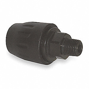 Plated Brass Threaded Adapter Tubing Fitting, Black