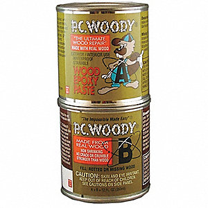 Epoxy,Wood Filler,Tan,12 Oz. Can