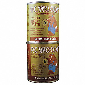 Epoxy Adhesive, 48.00 oz. Can, Tan, Work Life: 40 min.