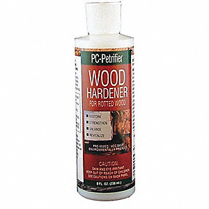 Wood Hardener, 8 fl. oz. Size, Milky White Color, Container Type: Bottle