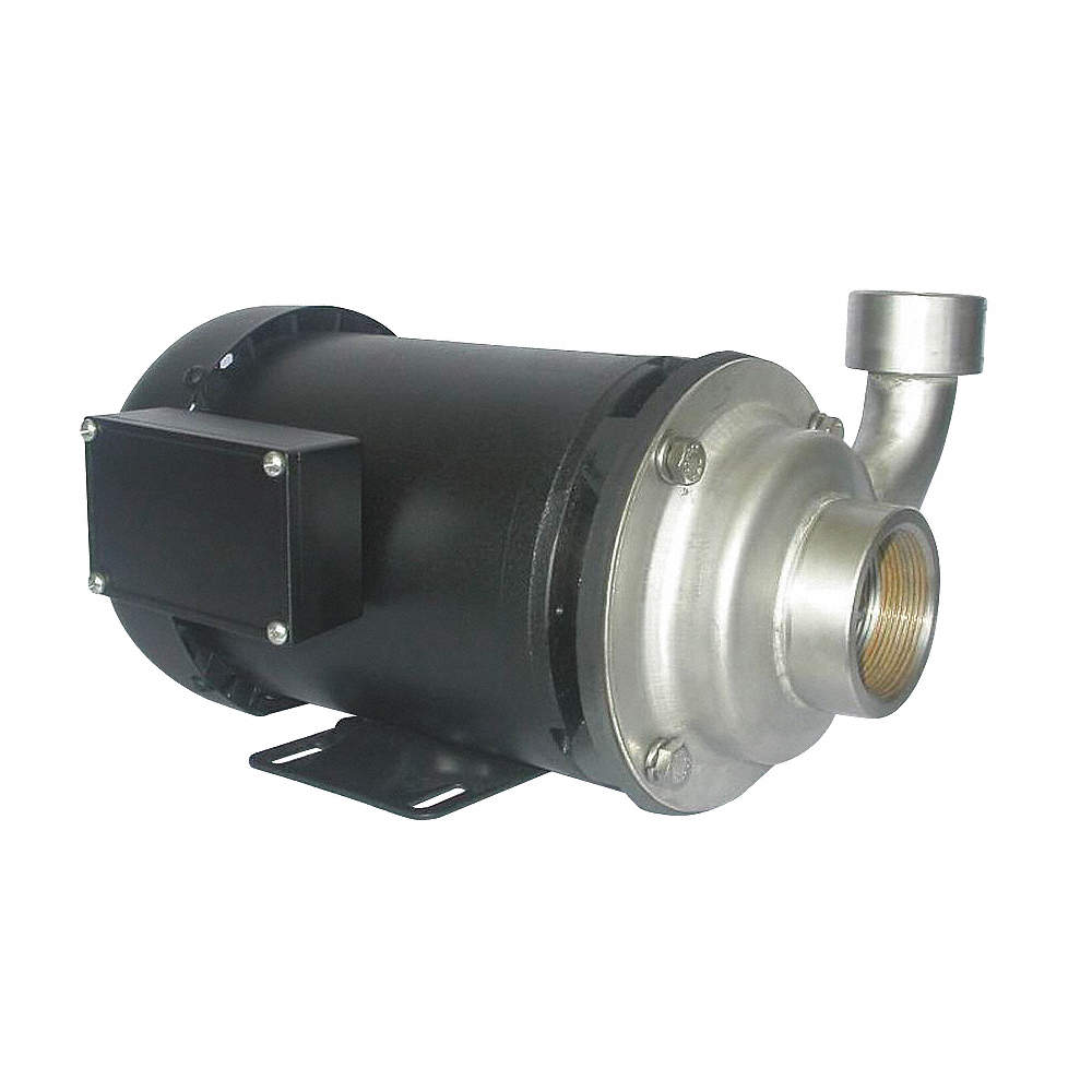 304 Stainless Steel 3 HP Centrifugal Pump, 3 Phase, 208-230/460 Voltage