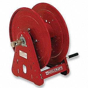 140 ft. Heavy Duty, Pressure Washer Hand Crank Hose Reel, Red