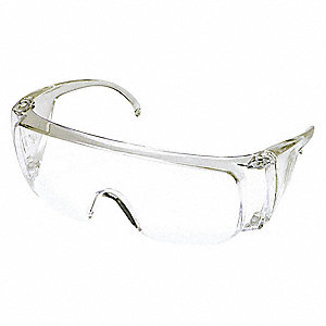 Condor  Visitor Uncoated Safety Glasses, Clear Lens Color