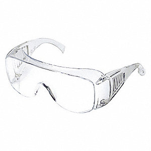 Condor  Visitor Scratch-Resistant Safety Glasses, Clear Lens Color