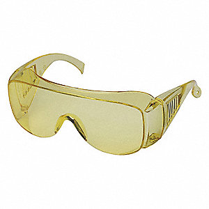 Condor™ Visitor Scratch-Resistant Safety Glasses, Amber Lens Color