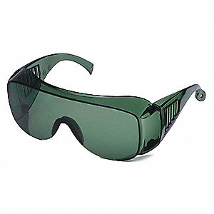 Condor™ Visitor Scratch-Resistant Safety Glasses, Green Lens Color