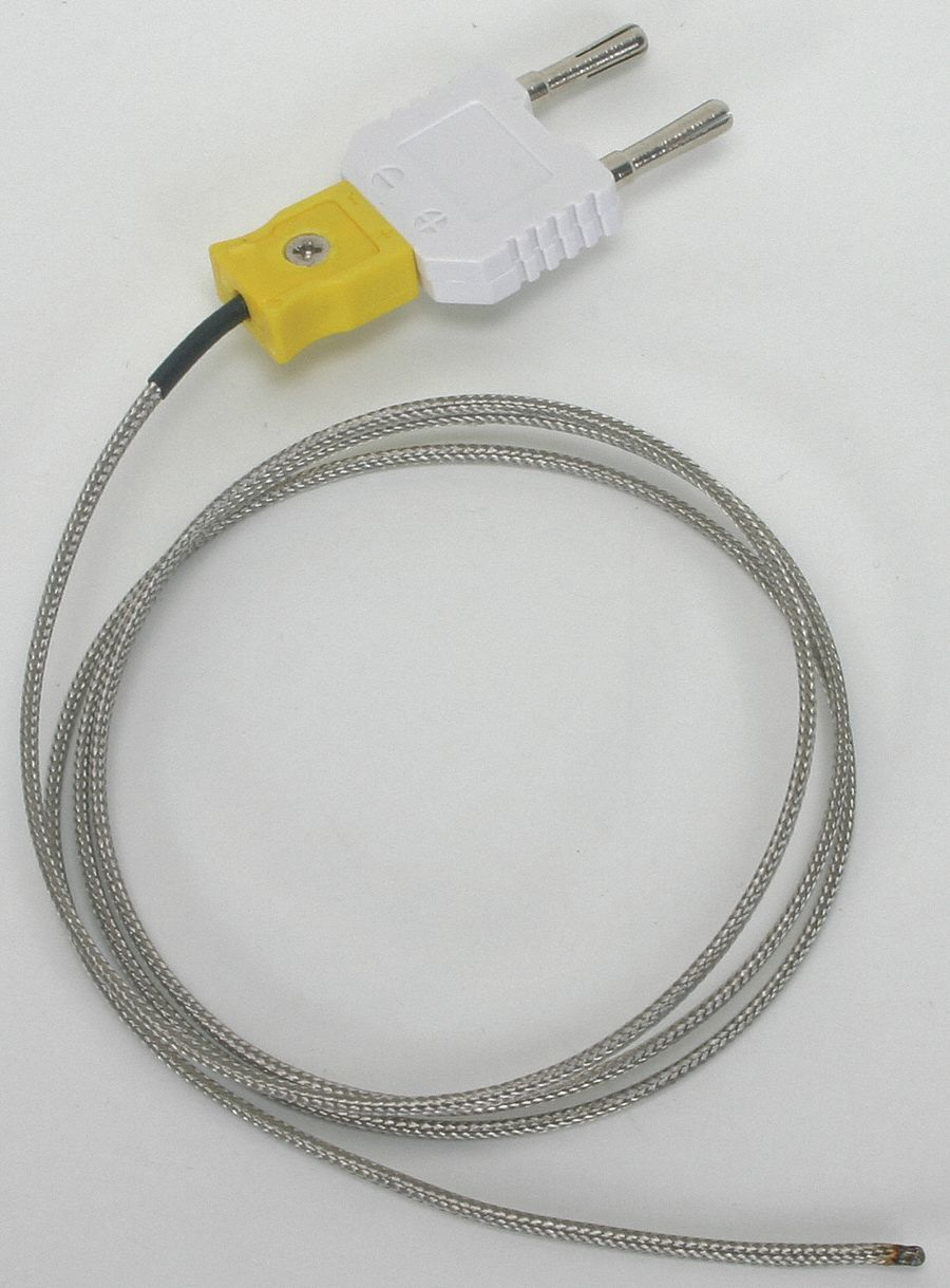 GRAINGER APPROVED Mini With Banana Plug Adapter K Thermocouple Bead ...