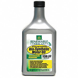 Engine Oil,Bio-Synthetic,1 Qt.,10W30