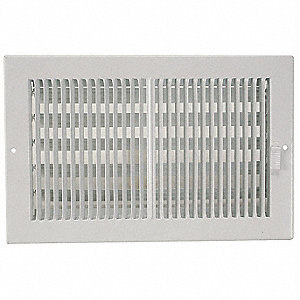 Sidewall/Ceiling Register,2-Way