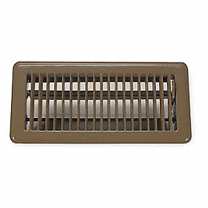 "Floor Register,2x14"",Brown"