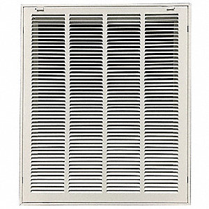 "Filtered Return Air Grille,12x24"",White"