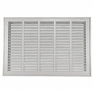 Return Air Filter Grille,20x25 In,White