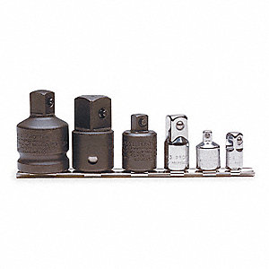 Impact Socket Adapter Set,3/8 In Dr,6 pc