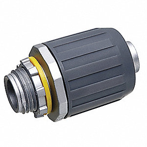 Zinc Noninsulated Connector, Connector Type: Straight, Conduit Size:  1/2""