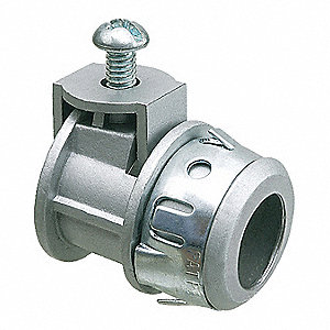 "Straight, Die Cast Zinc, 1/2"" NPT, Snap In Box Connection, Die Cast Zinc"