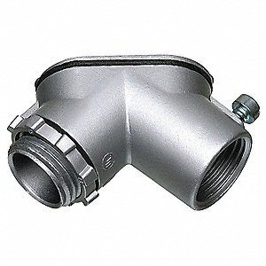 "UB-Style 1"" Pulling Elbow, Threaded Zinc, 11.5 cu. in."