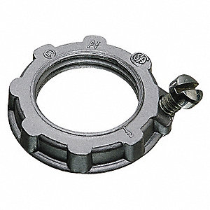 Grounding Locknut,2-61/64 In. L,PK5
