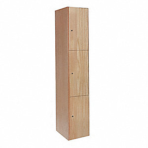 ALL-WOOD LOCKER 3TIER 1WIDE ASSEMB