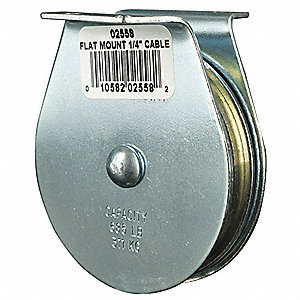 Pulley Block,685 lb.,Sheave OD 2-1/2 In.