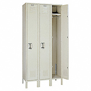 Wardrobe Lockr,Lvrd,3 Wide, 1 Tier,Putty