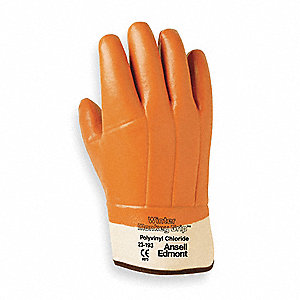 Cold Protection Gloves, Foam Insulate Lining, Tan, L, PR 1