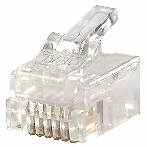 Clear Modular Plug, Number of Contacts: 6, Number of Positions: 6