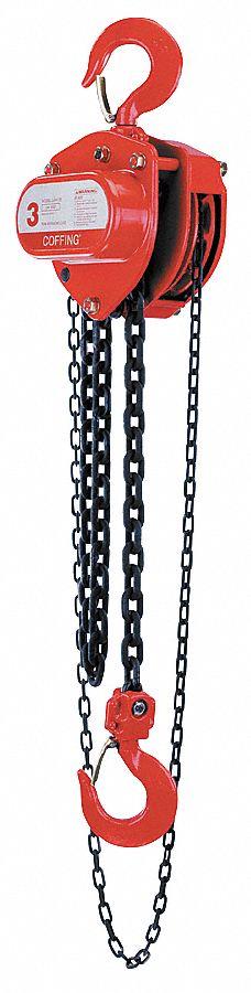 Dayton Manual Chain Hoist 2000 Lb Load Capacity 20 Ft Manual Guide