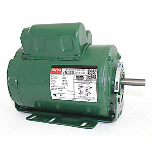 1 HP Agricultural Fan Motor,Capacitor-Start/Run,1725 Nameplate RPM,115/230 Voltage,Frame 56H