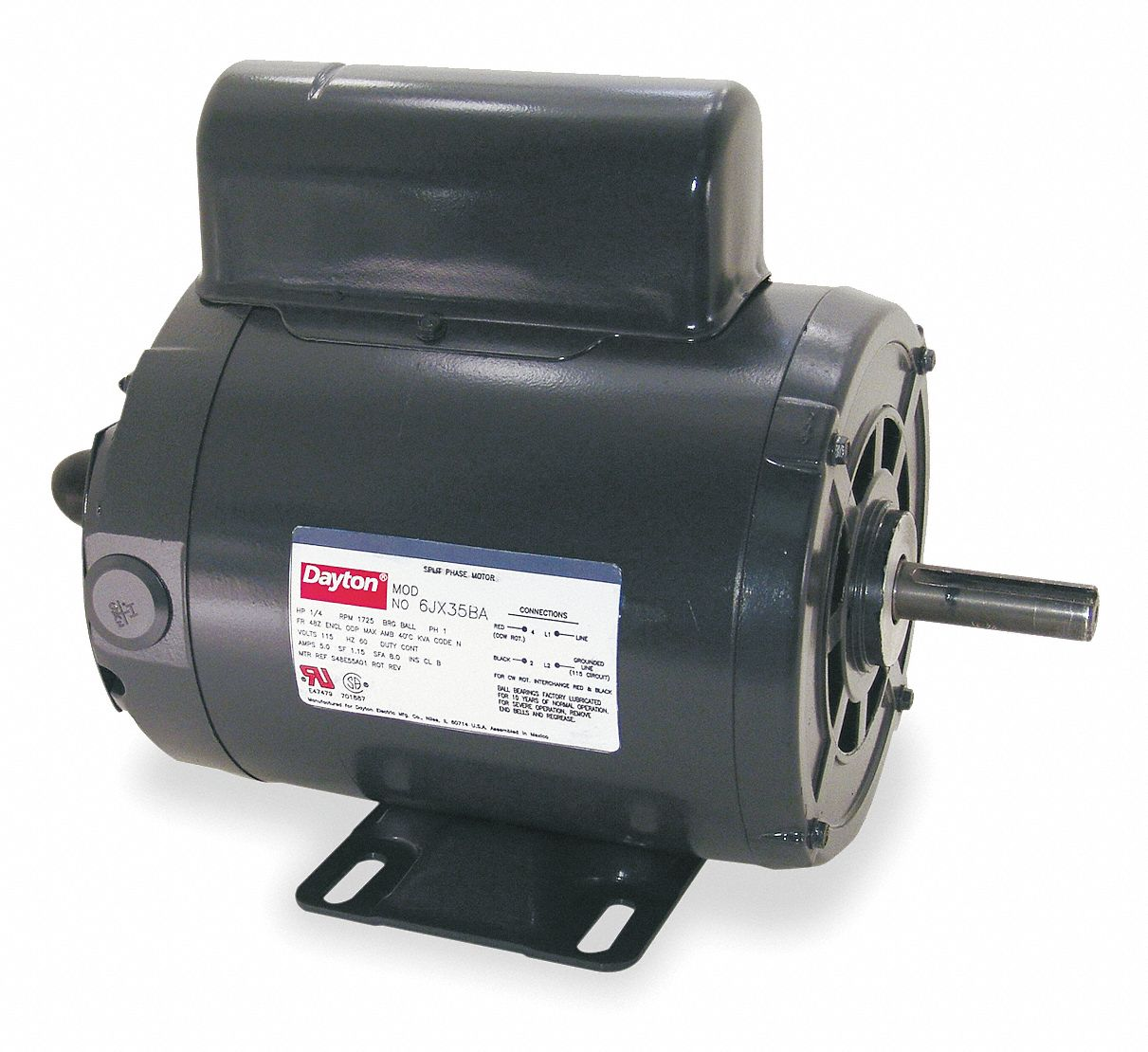 Dayton Power Tool Motor 1 2 Hp Capacitor Start Nameplate Rpm 1 725 Voltage 115 230v Ac 56 Frame 4k781 4k781bb Grainger