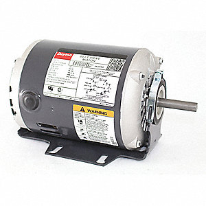 dayton 1/2 hp belt drive motor, split-phase, 1725 nameplate rpm,  115/208-230 voltage, frame 48z - 4k259|4k259 - grainger