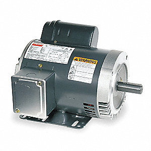 3 HP General Purpose Motor,Capacitor-Start,1740 Nameplate RPM,Voltage 115/230,Frame 184TC
