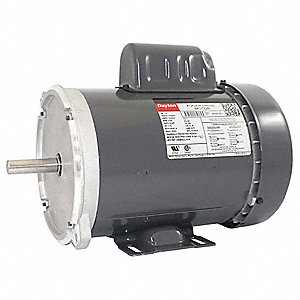 1 HP Auger Drive Motor,Capacitor-Start,1725 Nameplate RPM,115/230 Voltage,Frame 56Y