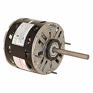 1/4 HP Direct Drive Blower Motor, Permanent Split Capacitor, 1075 Nameplate RPM, 115 Voltage