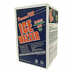 Pink Granular Ice Melt, -20 Degrees F Effective Temp., Size: 50 lb., Carton Package Type