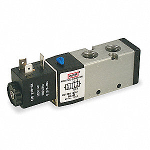 "1/4"" 120VAC 4-Way, 2-Position Solenoid Air Control Valve"