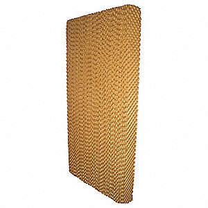 "Evaporative Cooling Pad, 12"" Width, 6"" Depth, 60"" Height, Environmental Applications: Residential/Co"