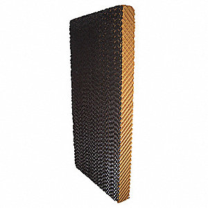 "Evaporative Cooling Pad, 12"" Width, 4"" Depth, 60"" Height, Environmental Applications: Residential/Co"