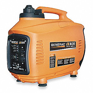 Recoil Gasoline Portable Inverter Generator, 800 Rated Watts, 850 Surge Watts, 120VAC