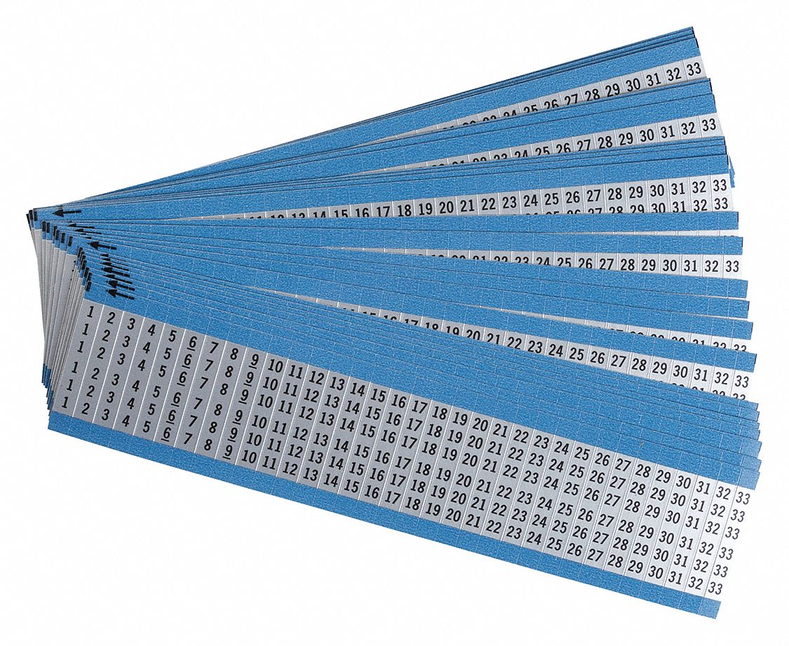 Details about  /BRADY BOX OF 25 CARDS  B-500 WIRE MARKER WM-7T3