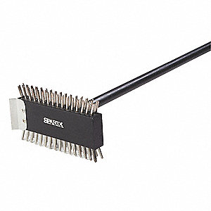 GRILL OVEN BRUSH, W 1 1/2 IN, PK 6
