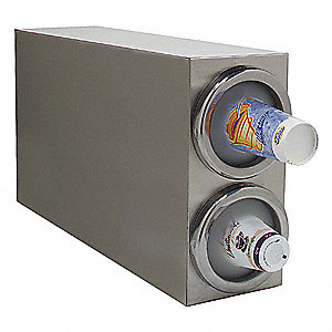Vertical Cabinet 18-8 Stainless Cup Dispenser, Holds 8 - 48 oz cups