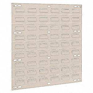 "18"" x 5/16"" x 19"" Louvered Panel with 160 lb. Load Capacity, Beige"