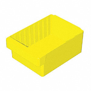 Drawer Bin,11-5/8x8-3/8x4-5/8 In,Yellow
