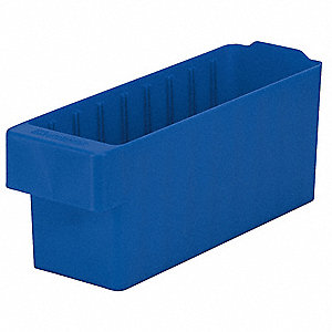 Drawer Bin,11-5/8 x 3-3/4 x 4-5/8In,Blue