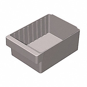 Drawer Bin,11-5/8 x 8-3/8 x 4-5/8In,Gray